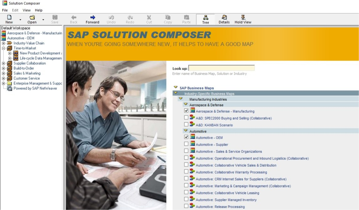 مدل مرجع فرآیندی-SAP Solution Composer