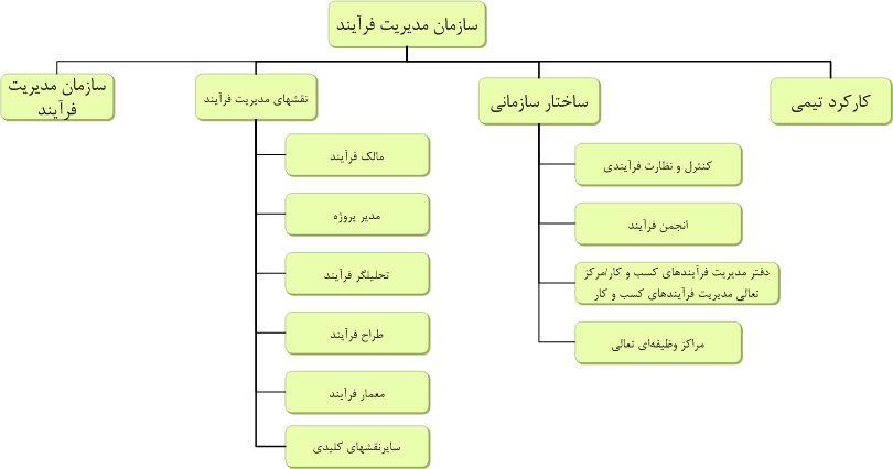 سازمان مديريت فرآيند-Process Management Organization